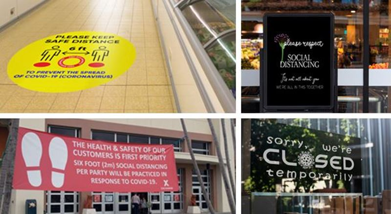 States mandate social distancing signage – help your customers respond to the demand