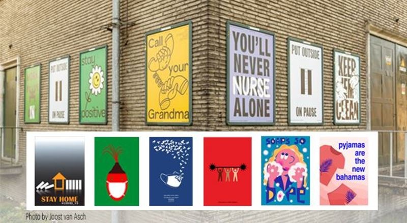 Printed Posters Blanket a Dutch City with Positivity to Counter COVID-19